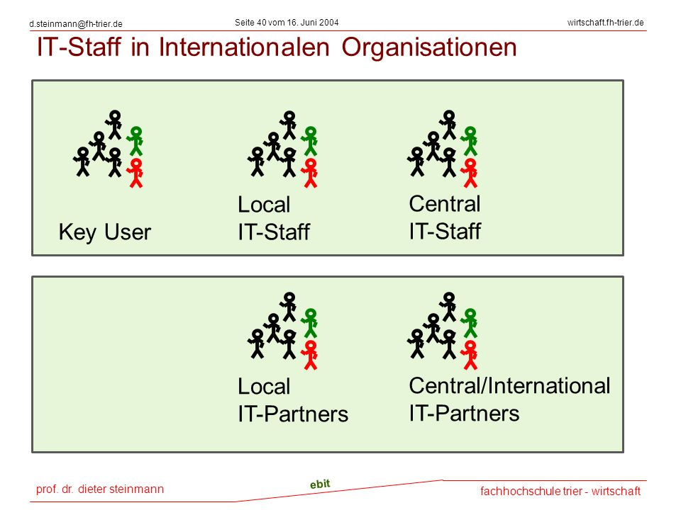 IT-Staff in Internationalen Organisationen
