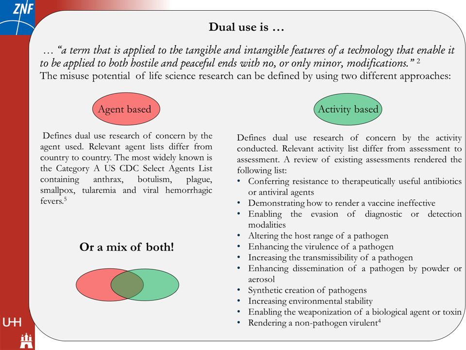 What is dual use research of concern
