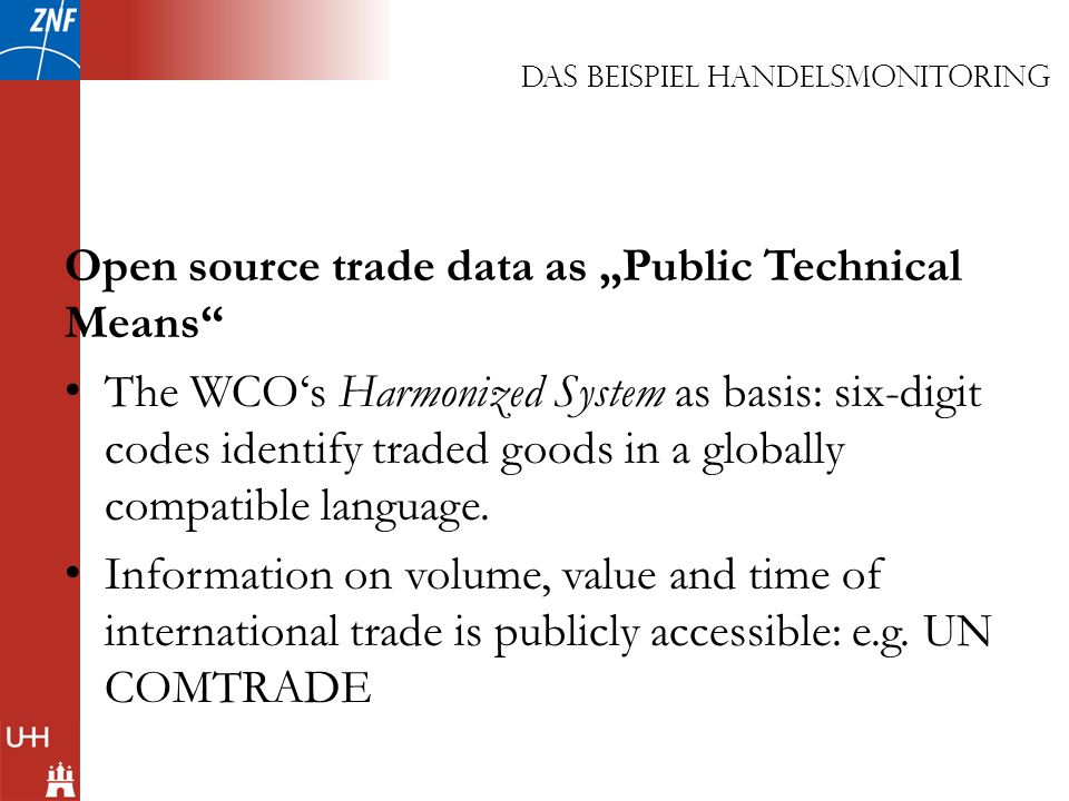 "Open source trade data as ""Public Technical Means"