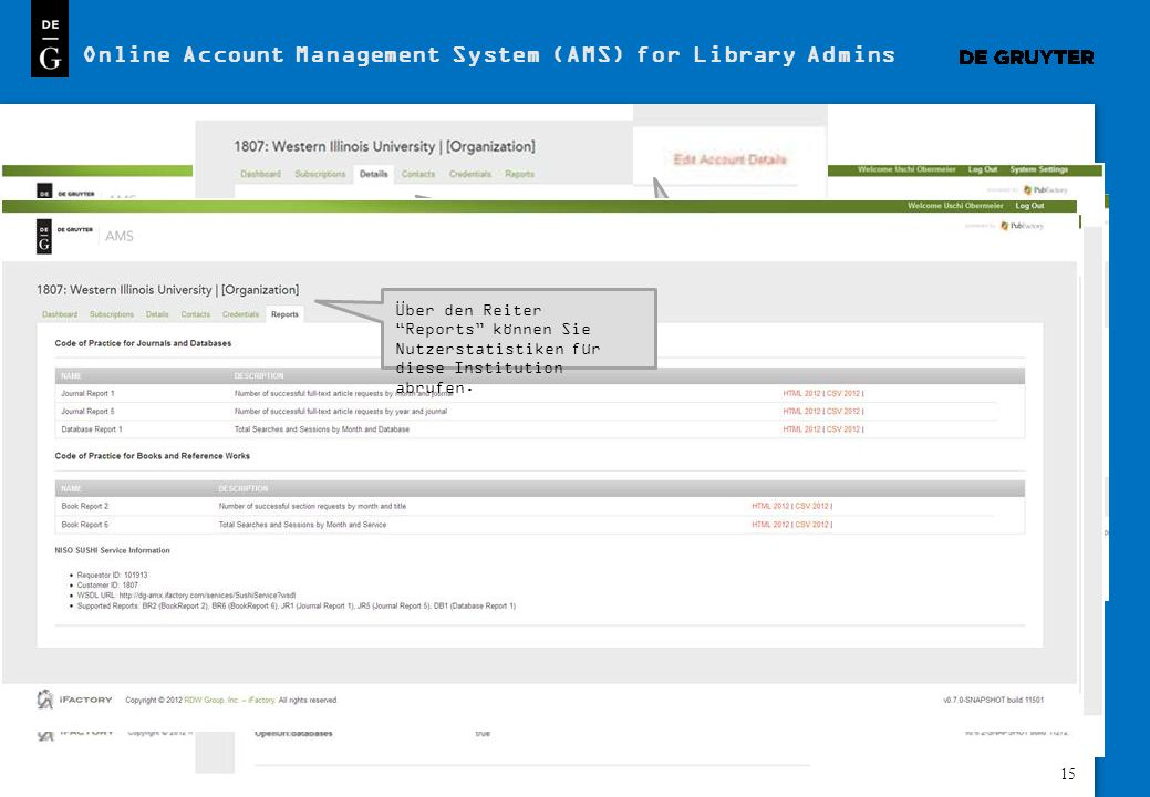 Online Account Management System (AMS) for Library Admins