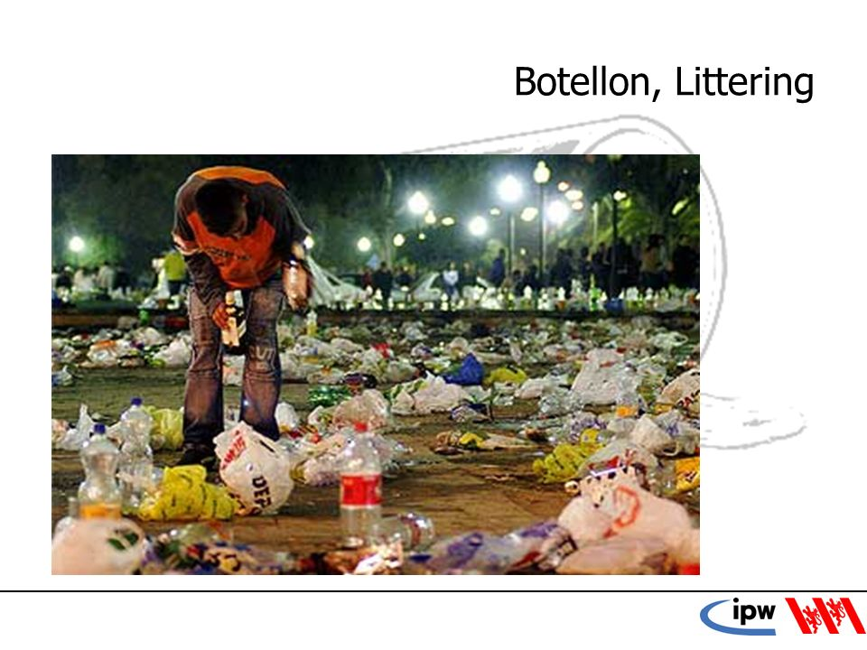 Botellon, Littering