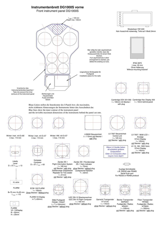 Instrumentenbrett Dg1000s Vorne Ppt Herunterladen Cambridge 302 Wiring Diagram