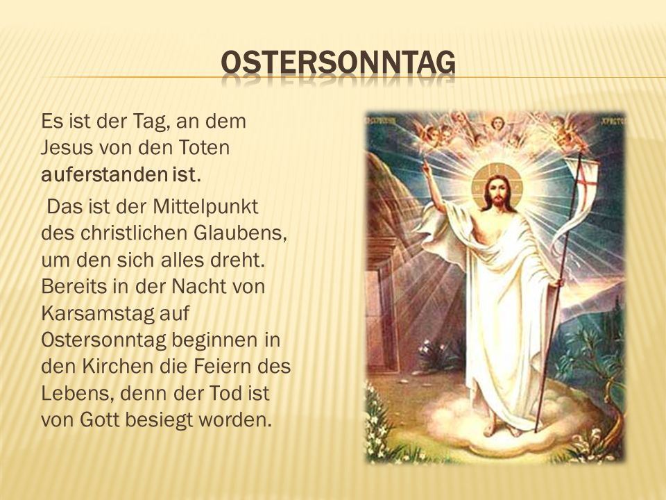 Ostersonntag