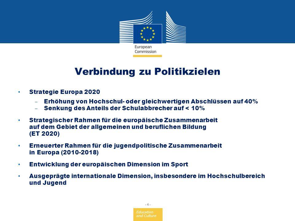 Allgemeine und berufliche Bildung, Jugend und Sport - ppt herunterladen
