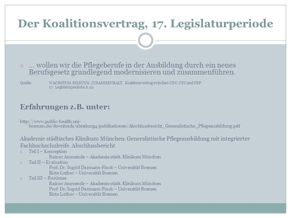 Der Koalitionsvertrag, 17. Legislaturperiode