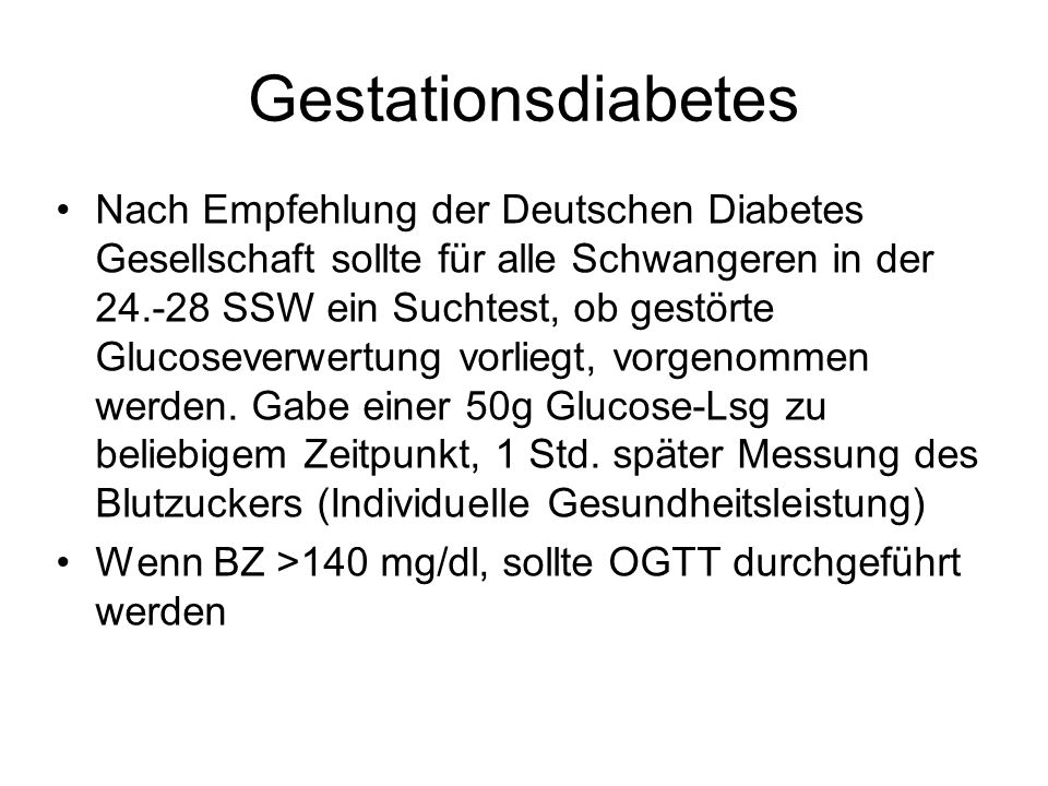 Gestationsdiabetes