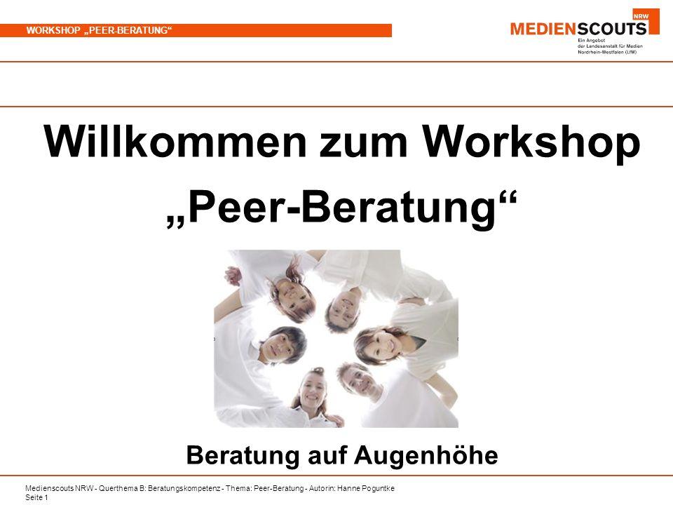 Willkommen zum Workshop Beratung auf Augenhöhe - ppt herunterladen