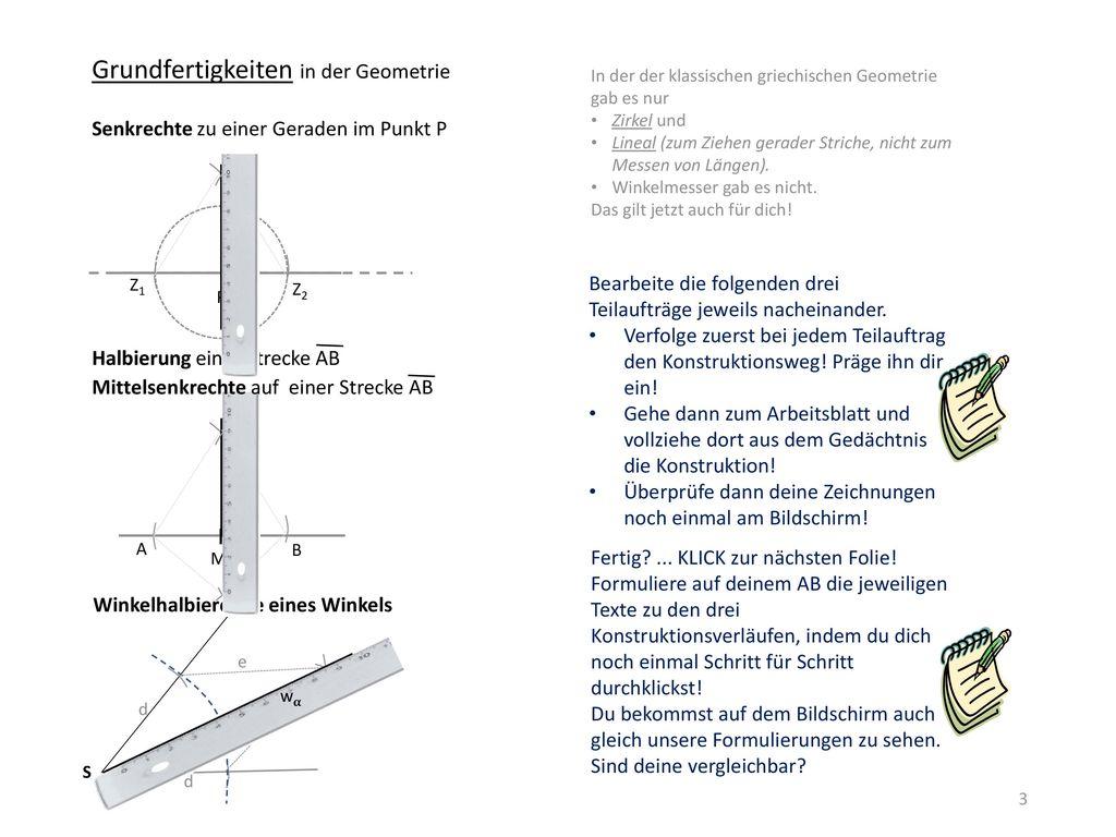 Winkel B A U S T E L L E Die einzelnen Bausteine entstehen nach ...