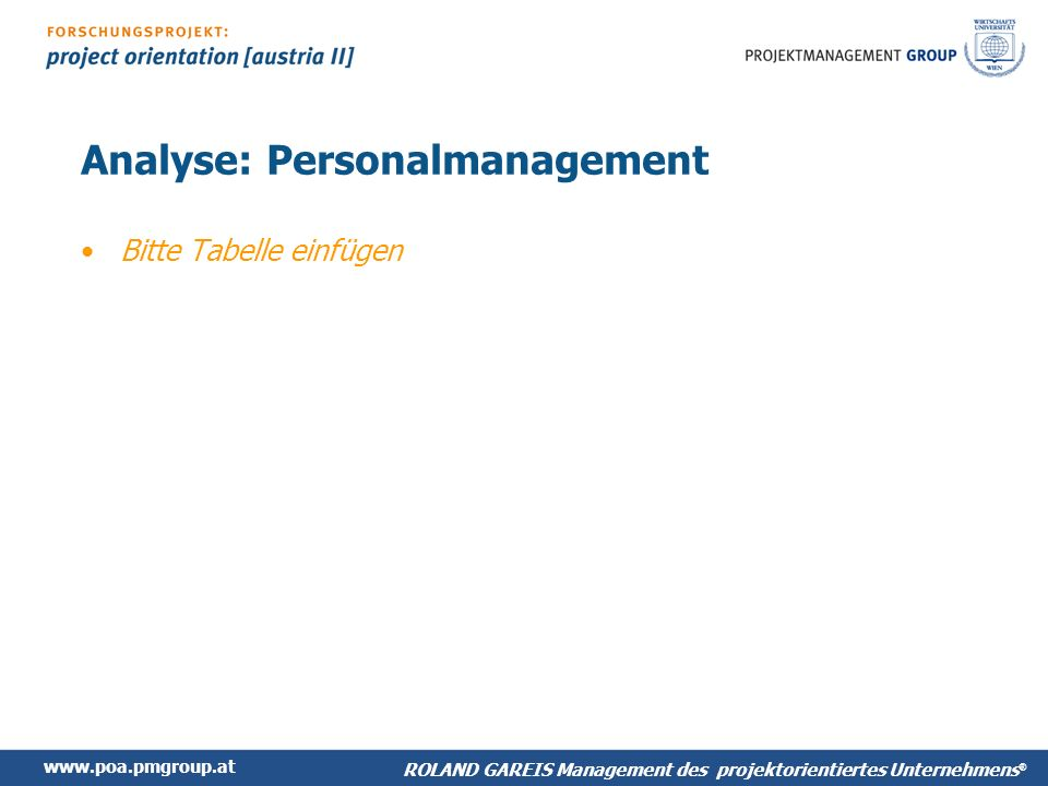 Analyse: Personalmanagement