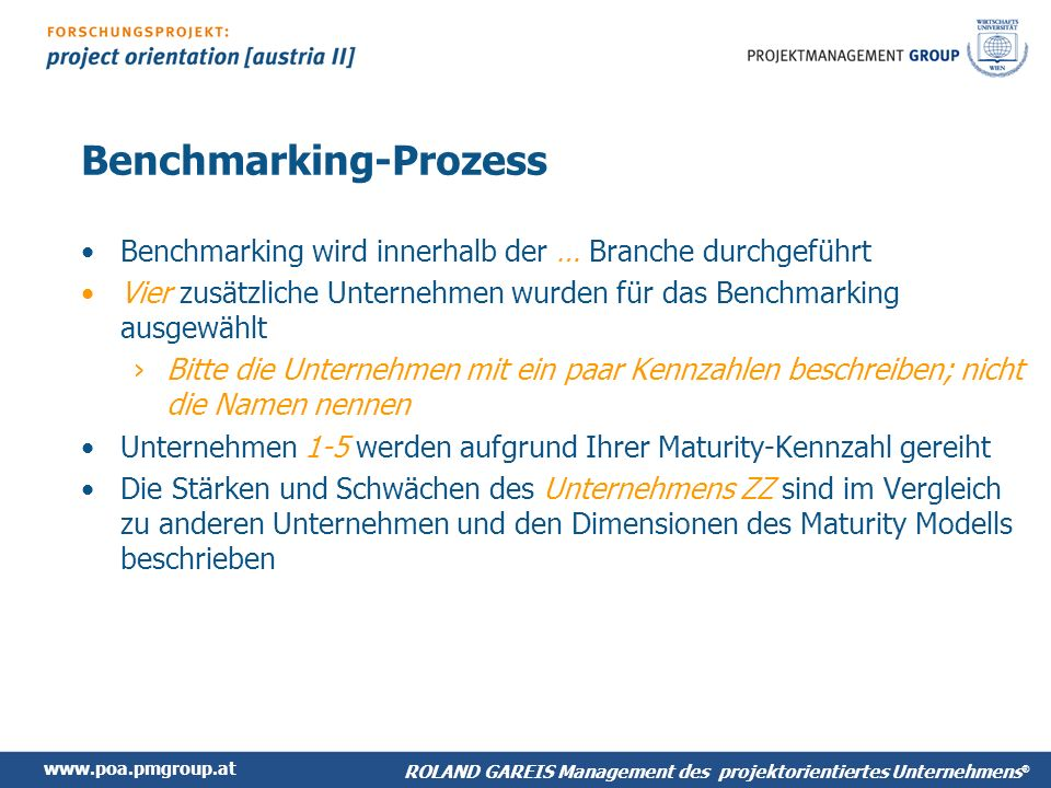 Benchmarking-Prozess