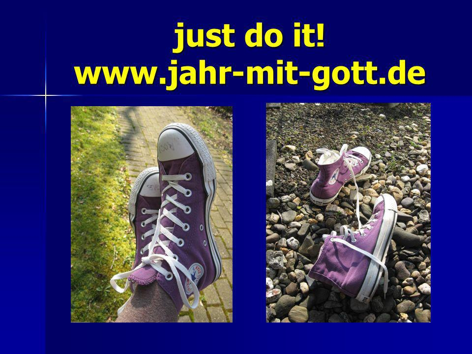 just do it! www.jahr-mit-gott.de