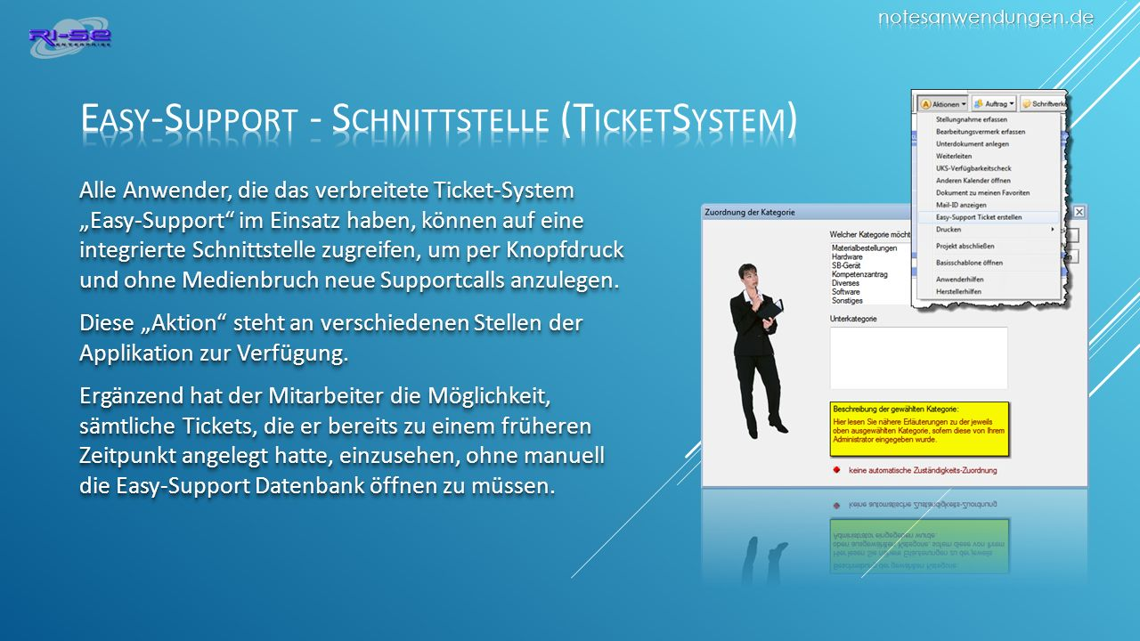 Easy-Support - Schnittstelle (TicketSystem)
