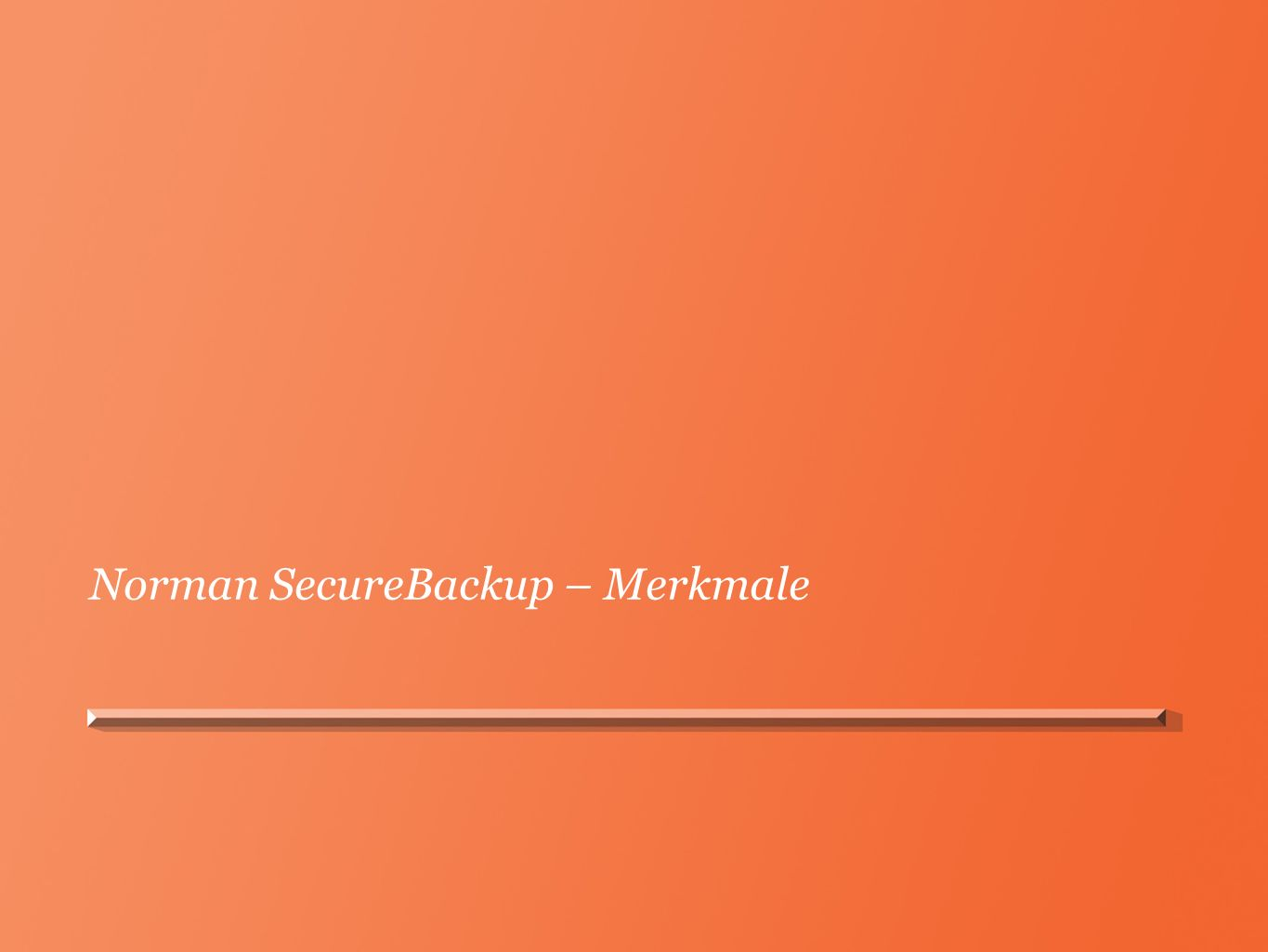 Norman SecureBackup – Merkmale