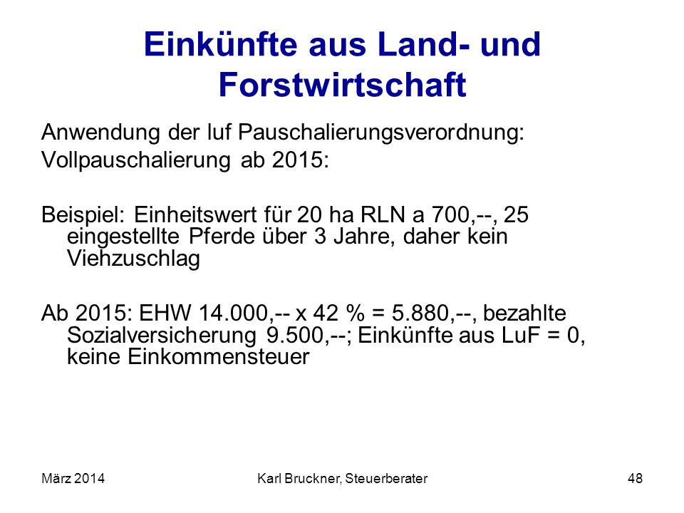 Geliebte Karl Bruckner, Steuerberater - ppt herunterladen @IF_88