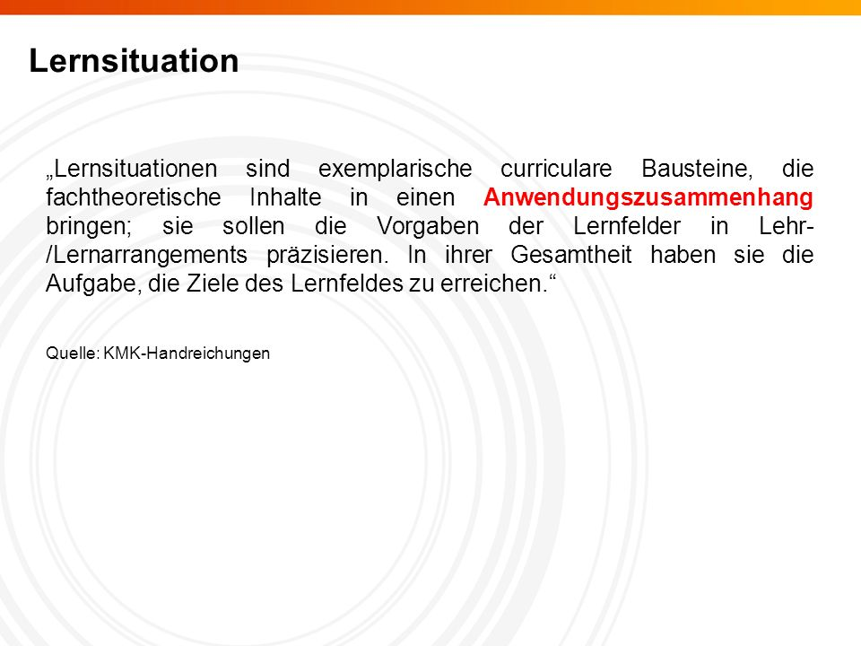 Lernsituation