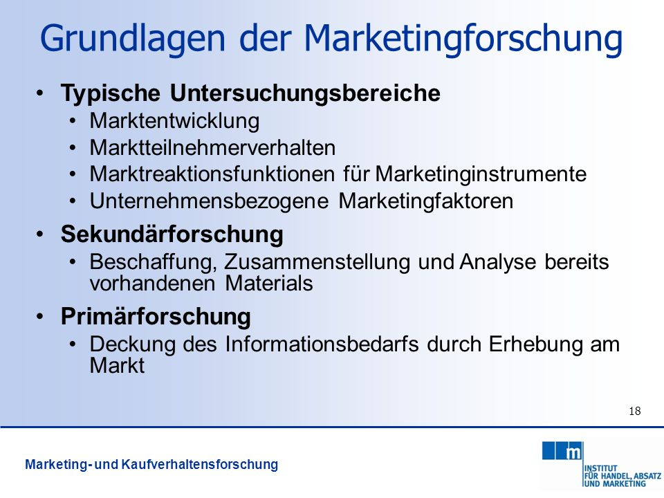Grundlagen der Marketingforschung