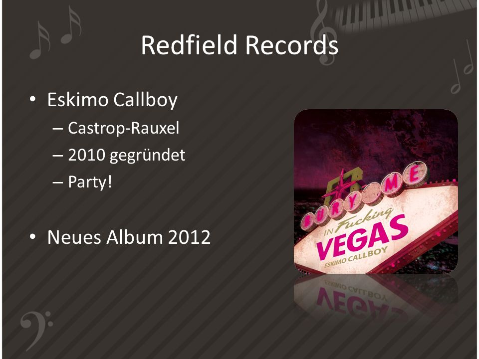 Redfield Records Eskimo Callboy Neues Album 2012 Castrop-Rauxel