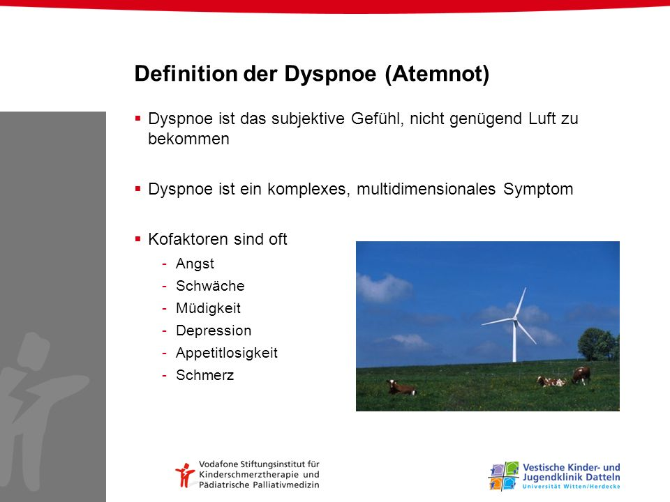 Definition der Dyspnoe (Atemnot)