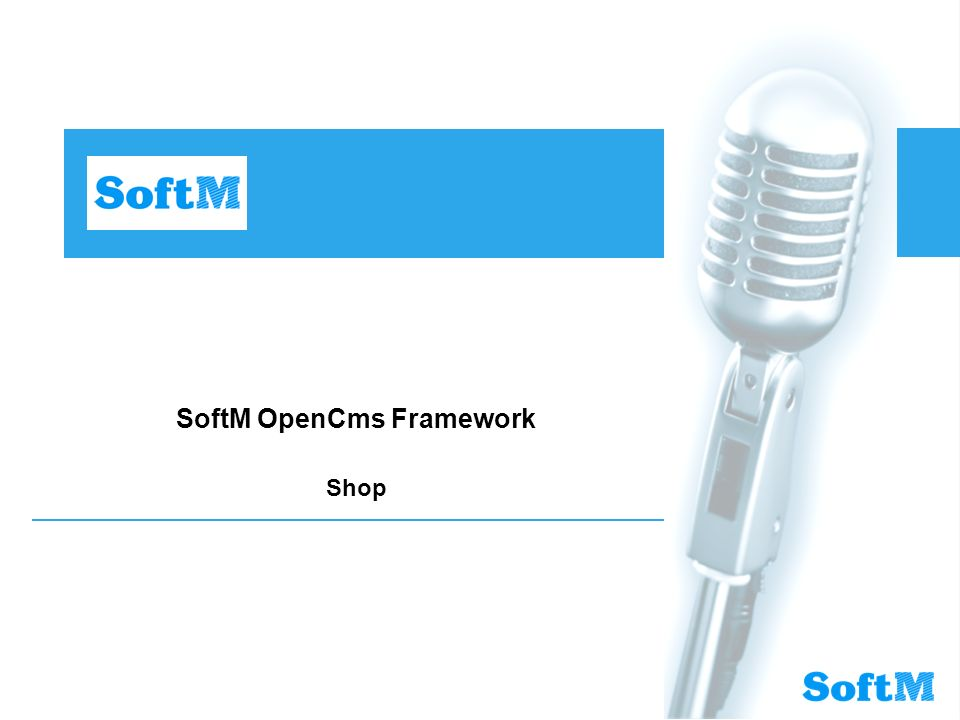SoftM OpenCms Framework Shop