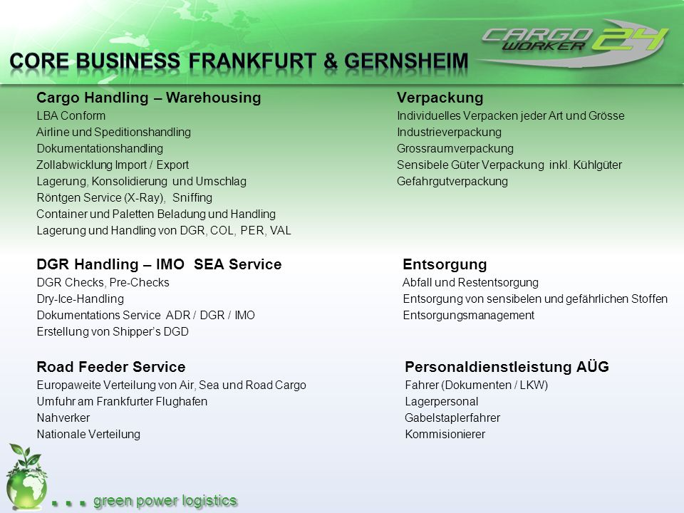 Core Business Frankfurt & Gernsheim