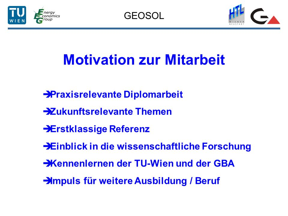 Motivation zur Mitarbeit
