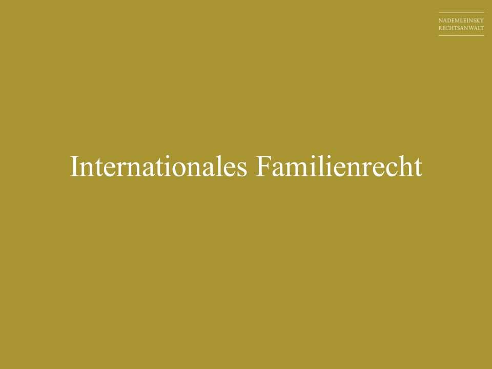 Internationales Familienrecht