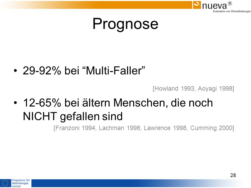Prognose 29-92% bei Multi-Faller