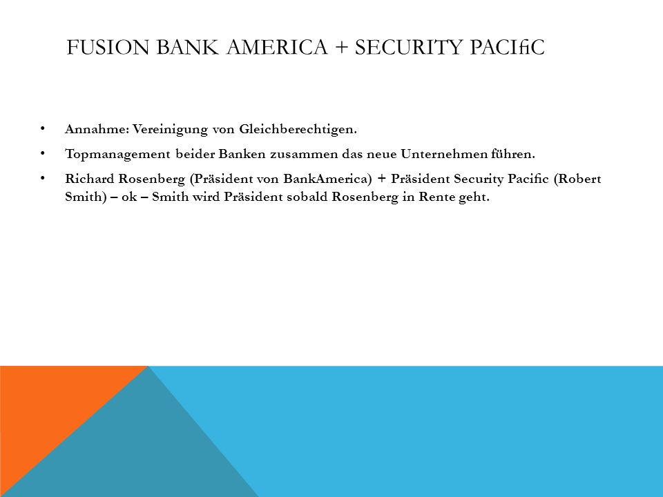Fusion Bank America + Security Pacific