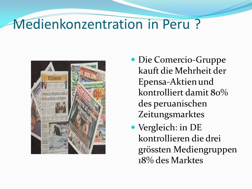 Medienkonzentration in Peru