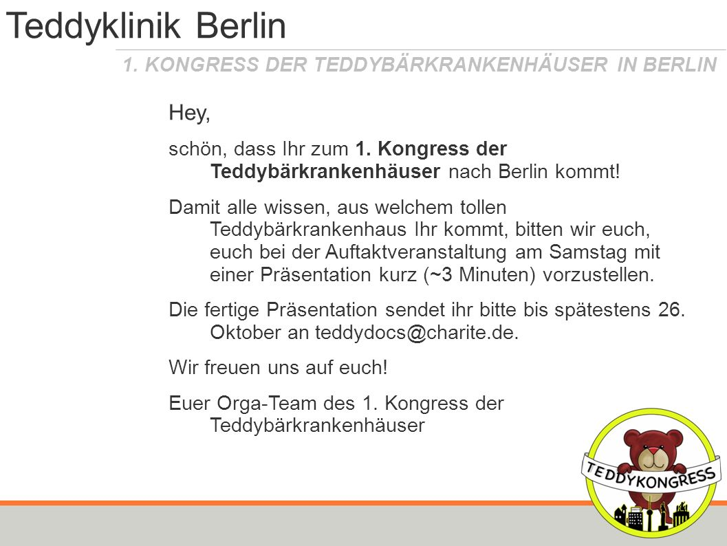 Teddyklinik Berlin Hey,