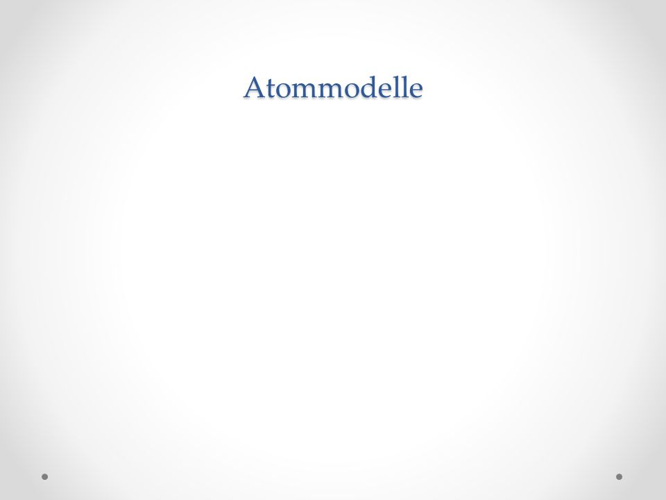 Atommodelle