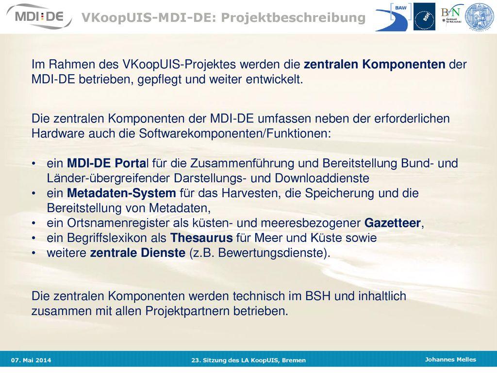 Marine Dateninfrastruktur Deutschland - ppt herunterladen