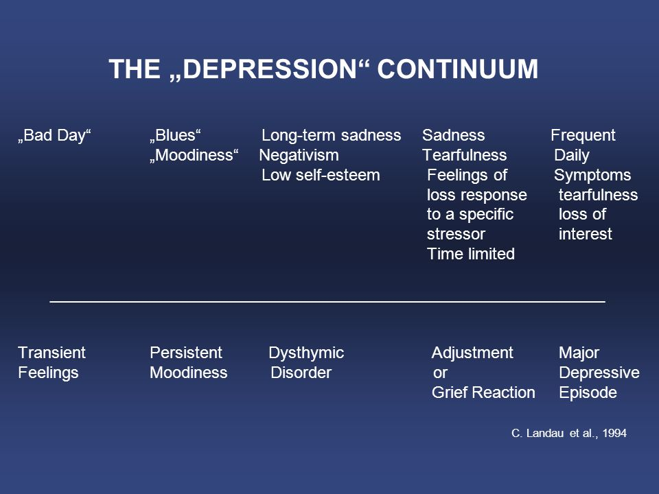 "THE ""DEPRESSION CONTINUUM"