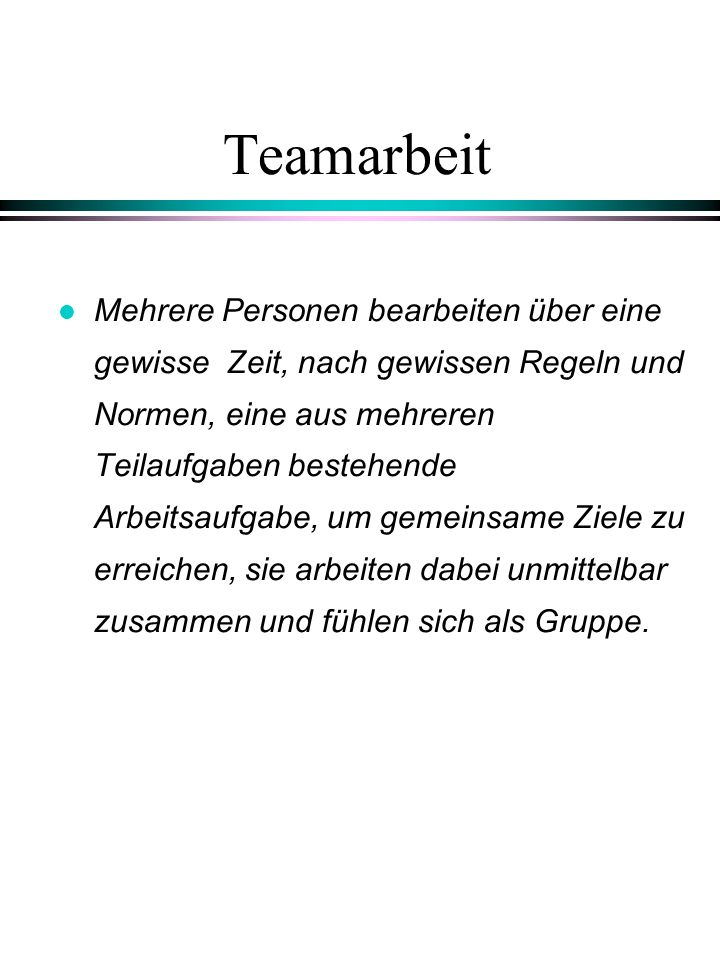 Teamarbeit