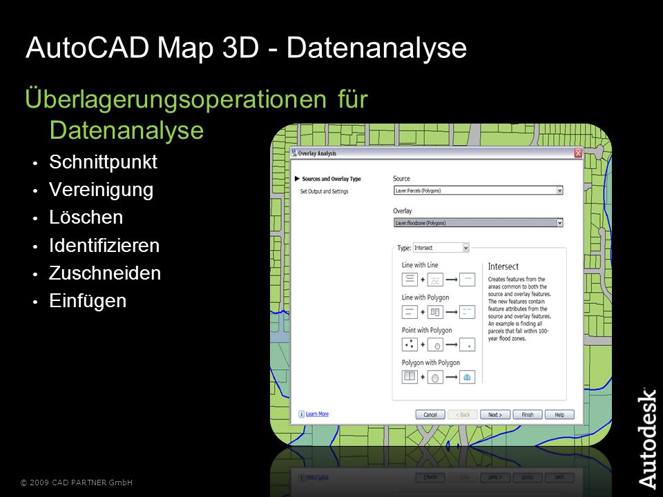 AutoCAD Map 3D - Datenanalyse