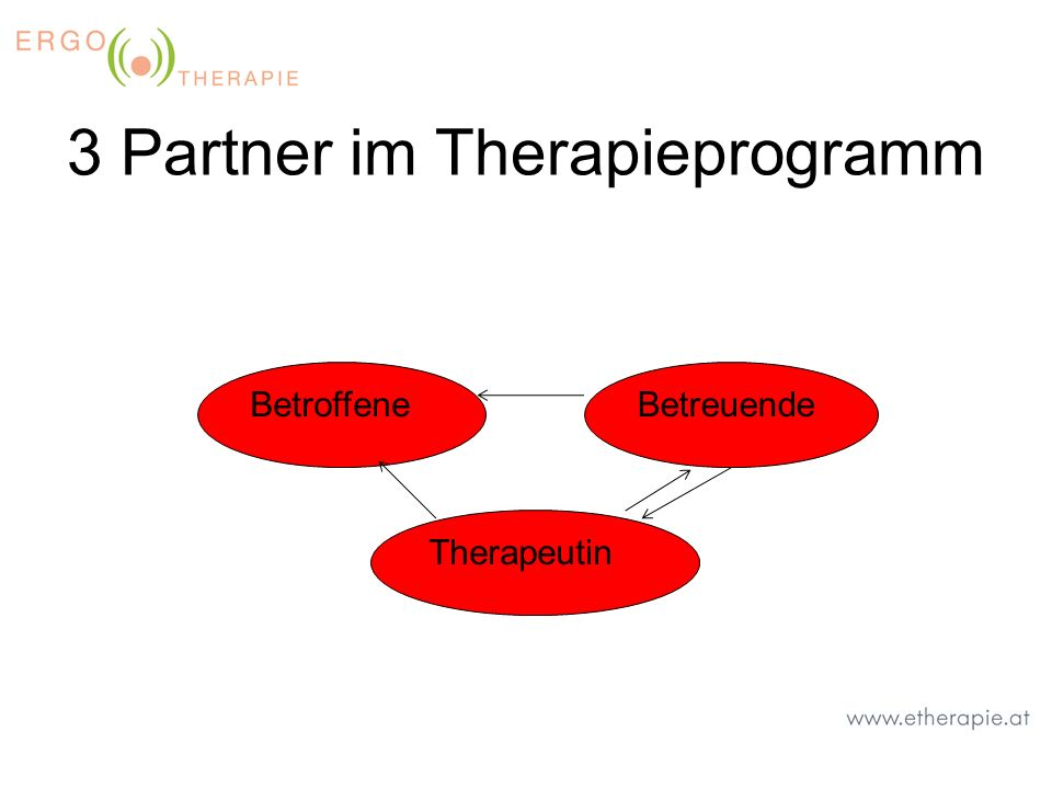 3 Partner im Therapieprogramm