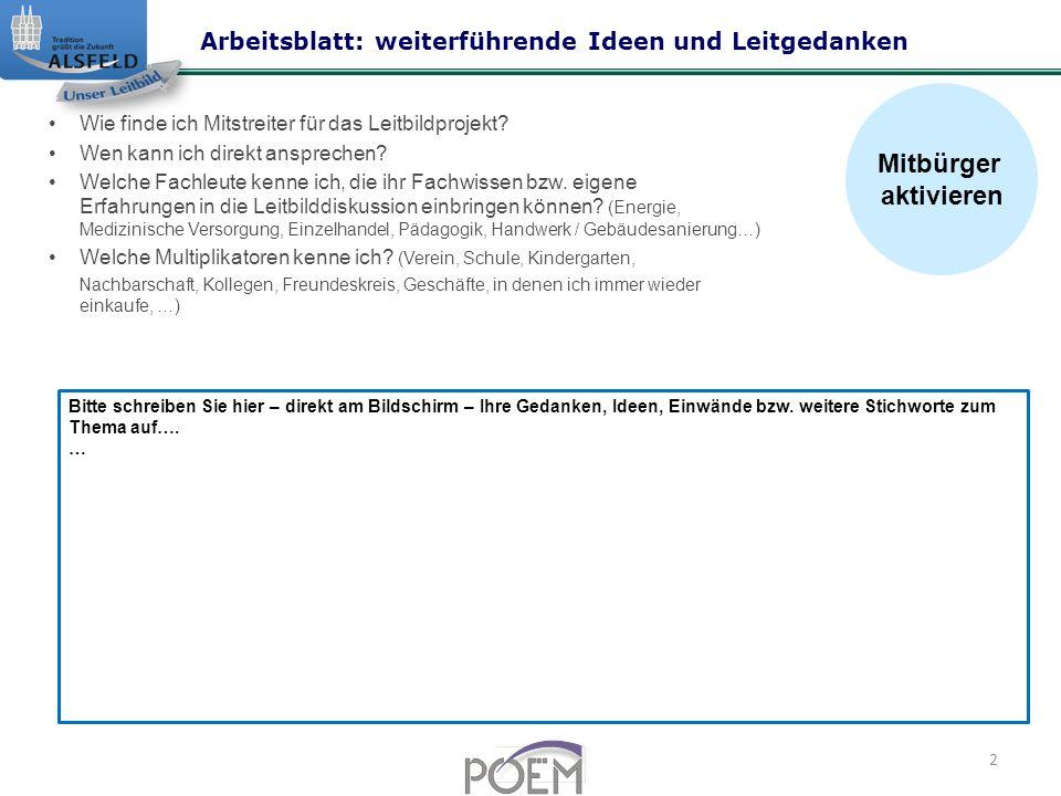Arbeitsblätter für weiterführende Ideen und Leitgedanken - ppt ...