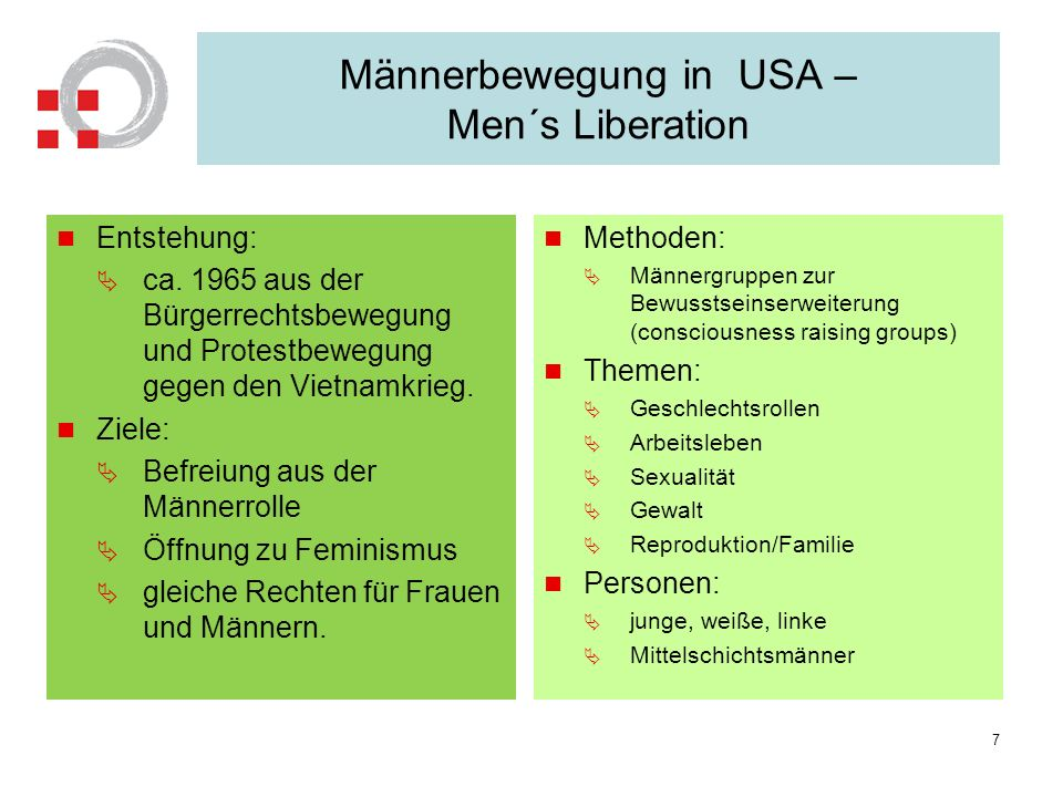 Männerbewegung in USA – Men´s Liberation