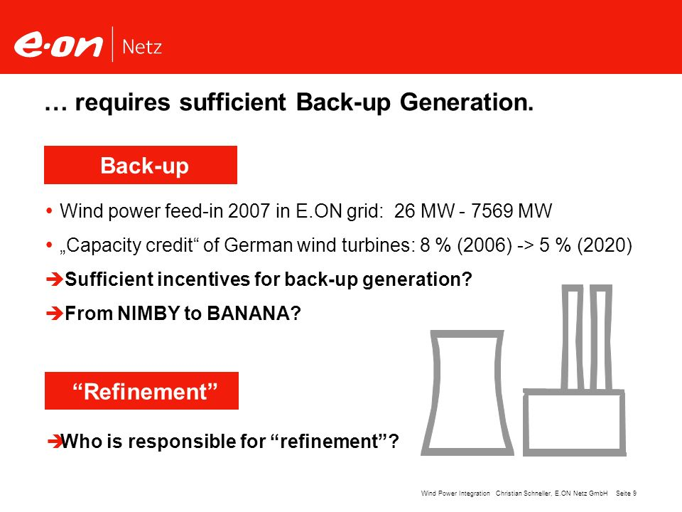 … requires sufficient Back-up Generation.