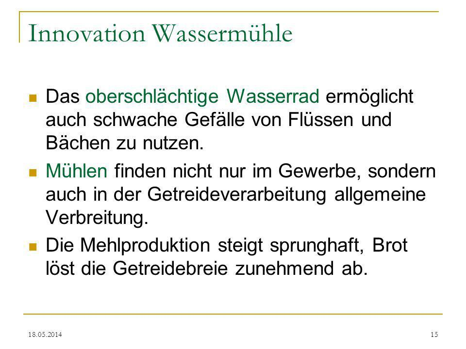 Innovation Wassermühle