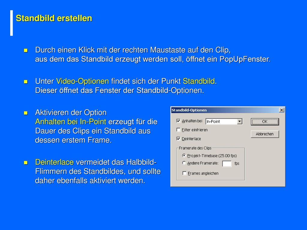 Video- und Audio- Schnittkurs - ppt herunterladen