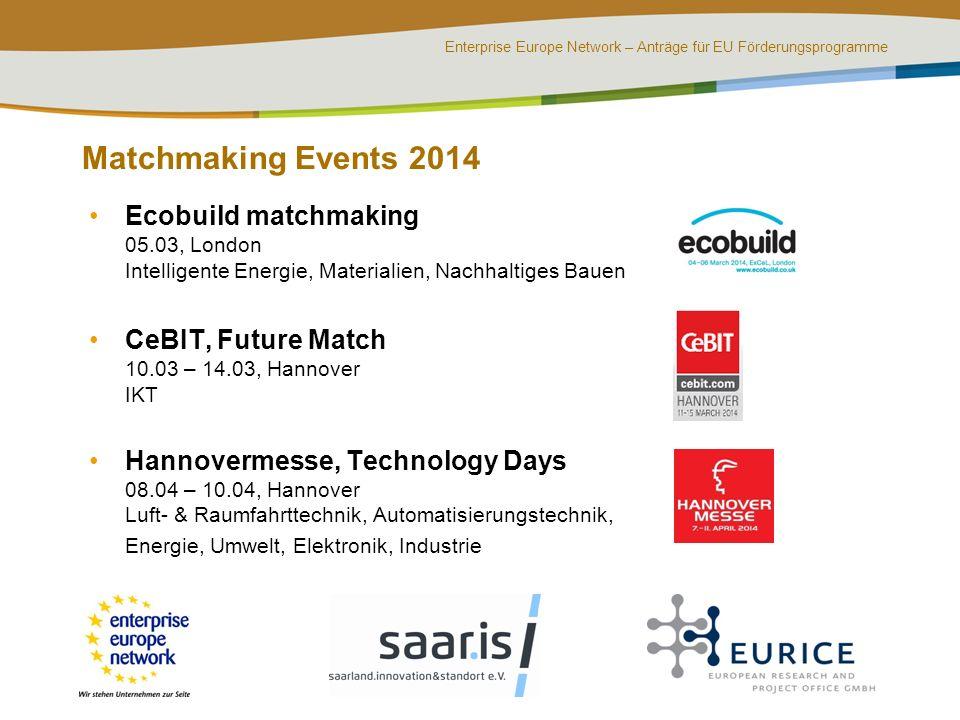 Ecobuild matchmaking 2014