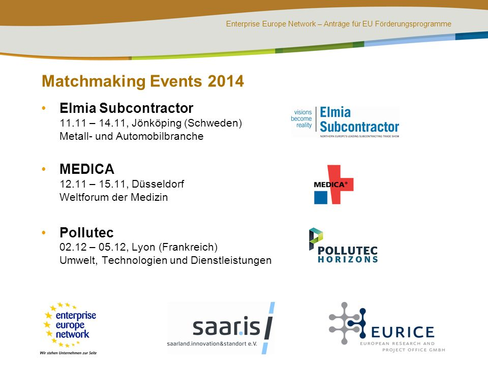 Matchmaking Events 2014