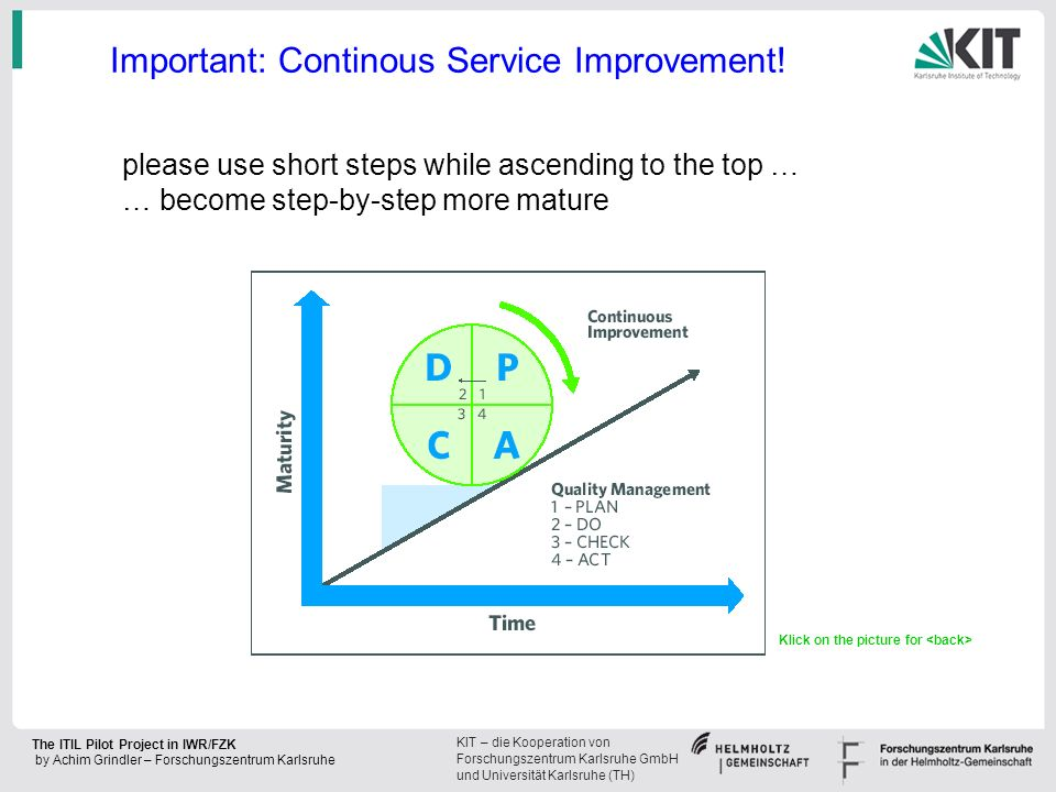 Important: Continous Service Improvement!