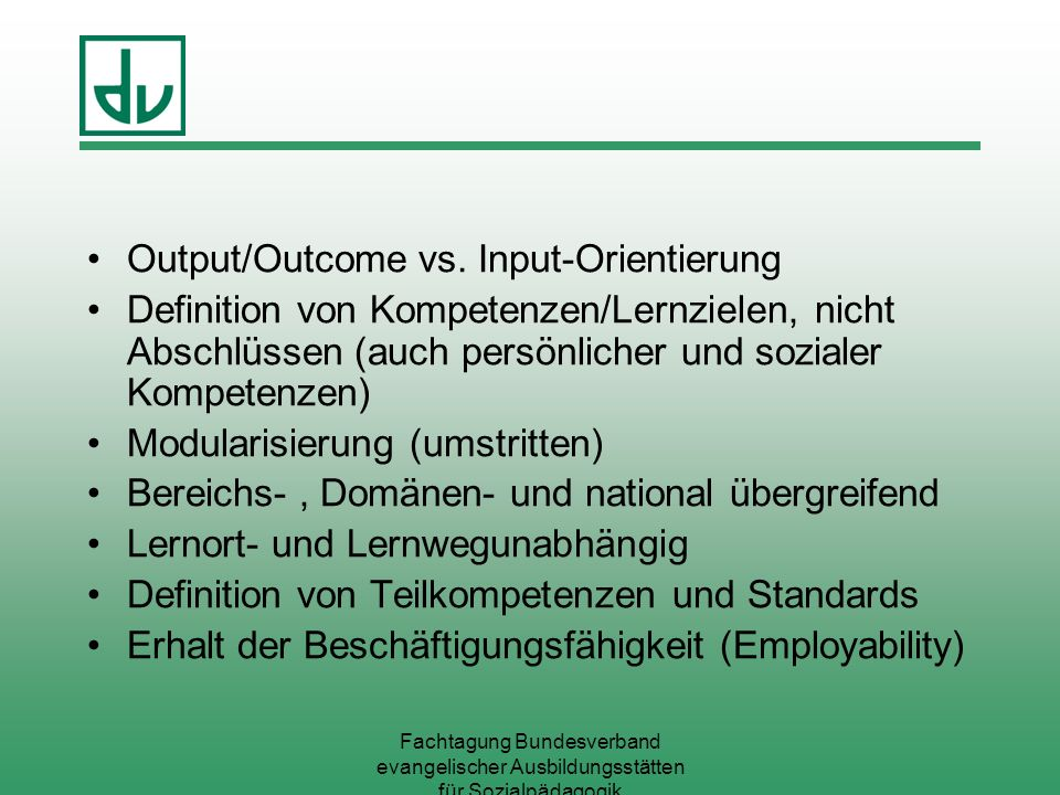 Output/Outcome vs. Input-Orientierung