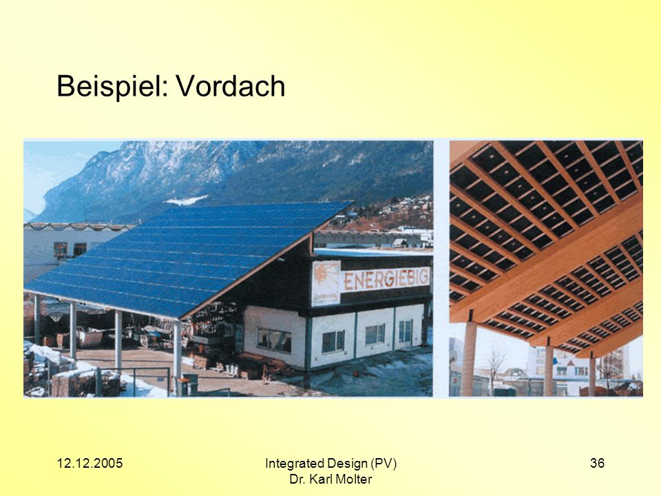 Integrated Design (PV)