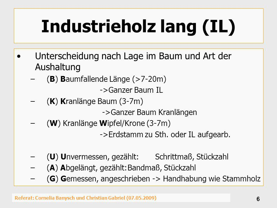 Industrieholz lang (IL)