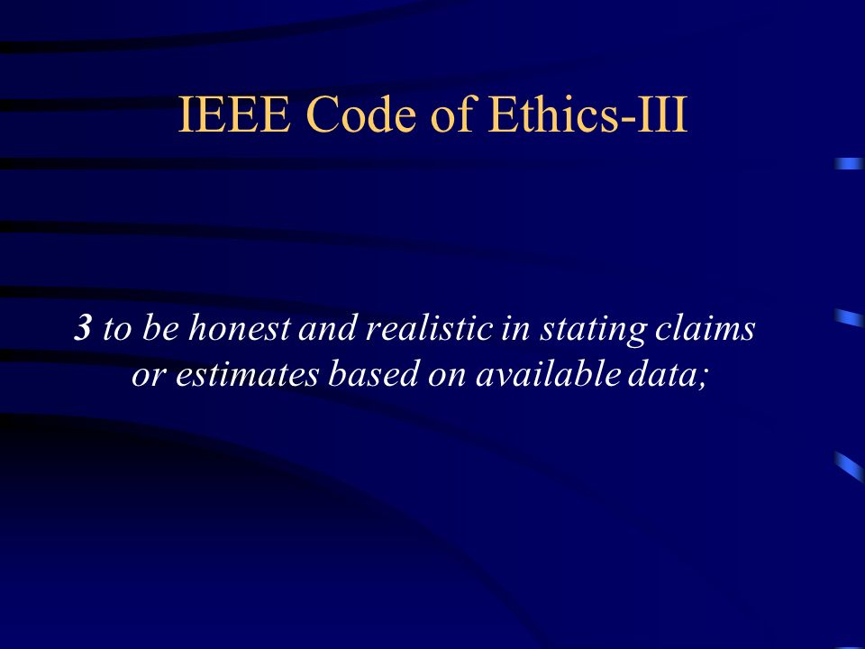 IEEE Code of Ethics-III