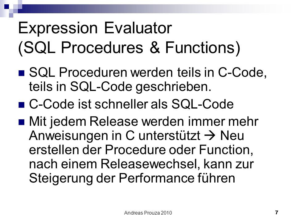 Expression Evaluator (SQL Procedures & Functions)
