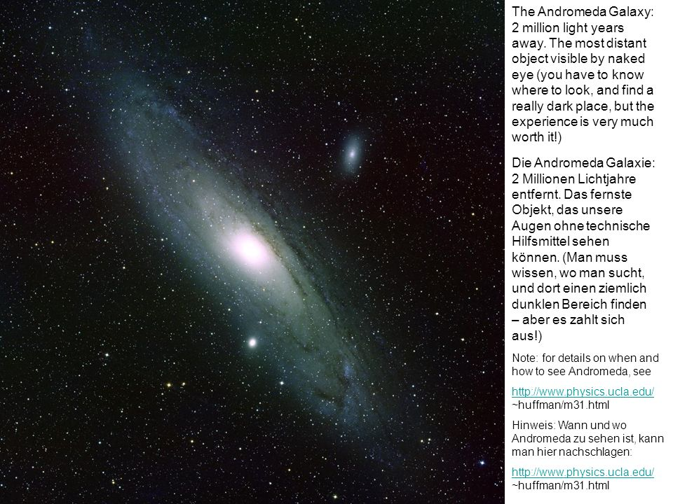 The Andromeda Galaxy: 2 million light years away